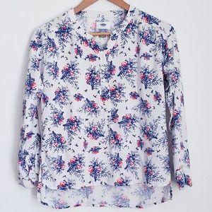 🌞Bundle 3/$20 Old Navy Floral Half Button Shirt
